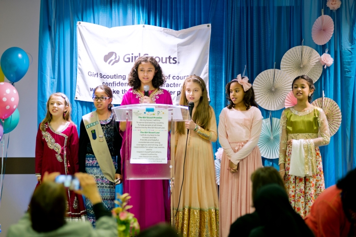 Girl Scouts Honor Mothers with High Tea