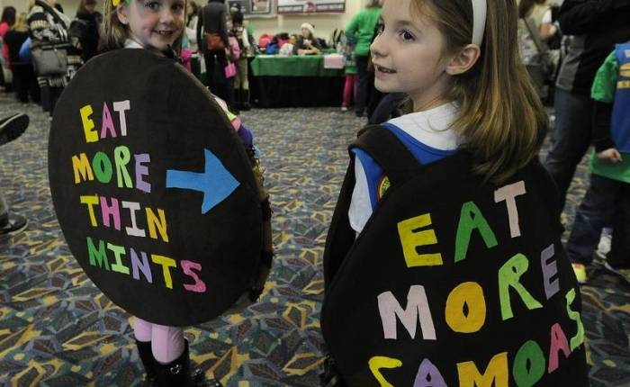 Girl Scouts Kick Off Cookie Sales at Allstate Arena