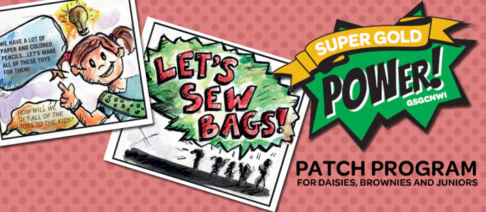 Become a Superhero with the Girl Scout Super Gold Power Patch Program