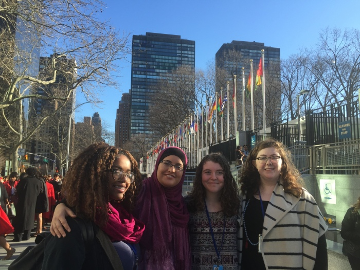 Four Girl Scouts Attend the United Nations' 60th Commission on the Status of Women