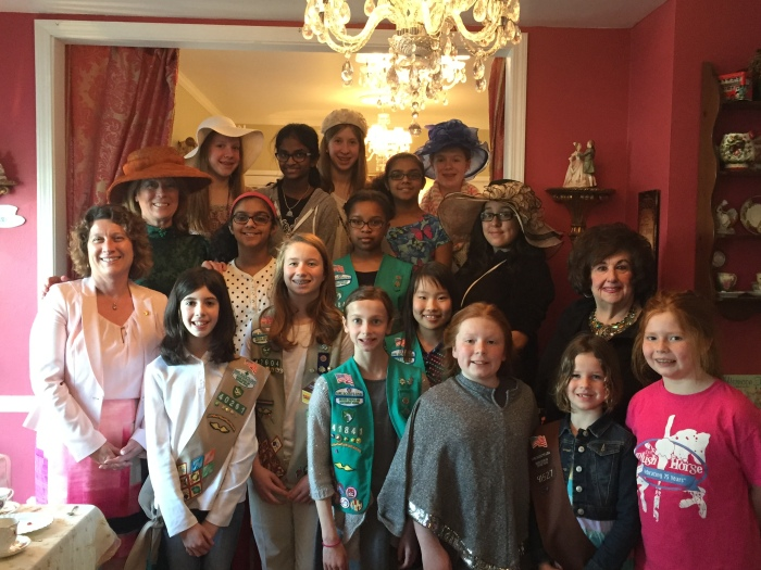 Girl Scouts Learn About Leadership at High Tea in LongGrove