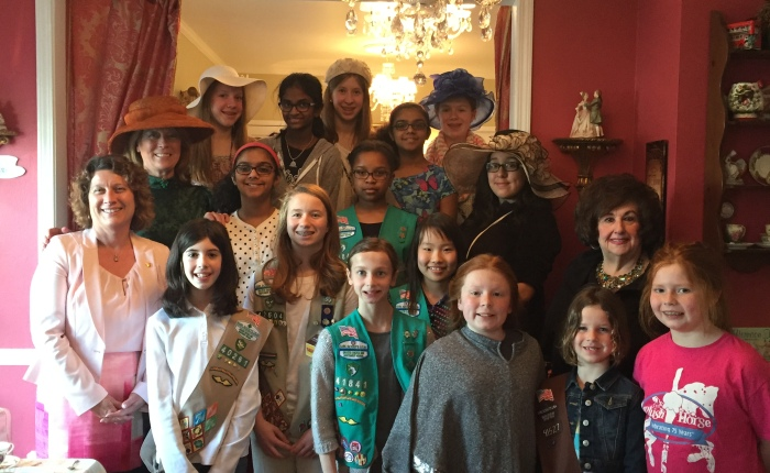 Girl Scouts Learn About Leadership at High Tea in Long Grove