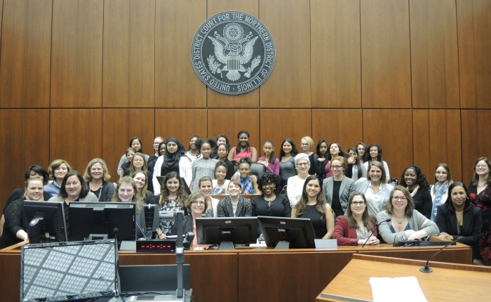 Girl Scouts Take the Stand at Project Law Track Mock Trial
