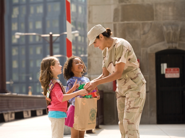 Girl Scouts Donate Nearly 200K Boxes of Cookies to Military Personnel