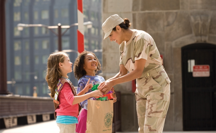 Girl Scouts Donate Nearly 200K Boxes of Cookies to MilitaryPersonnel