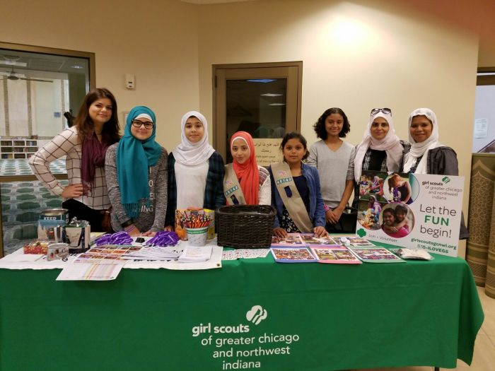 Girl Scouts Welcome Community at Mosque Open House