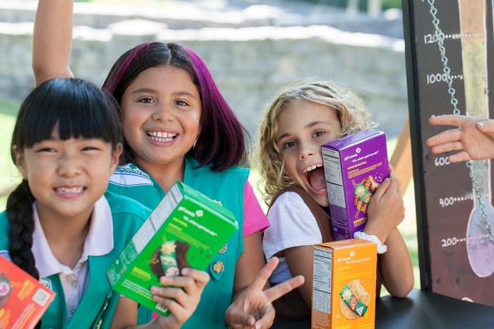 Celebrate 100 Years of Girl Scouts Selling Cookies at the Cookie Kickoff Rally