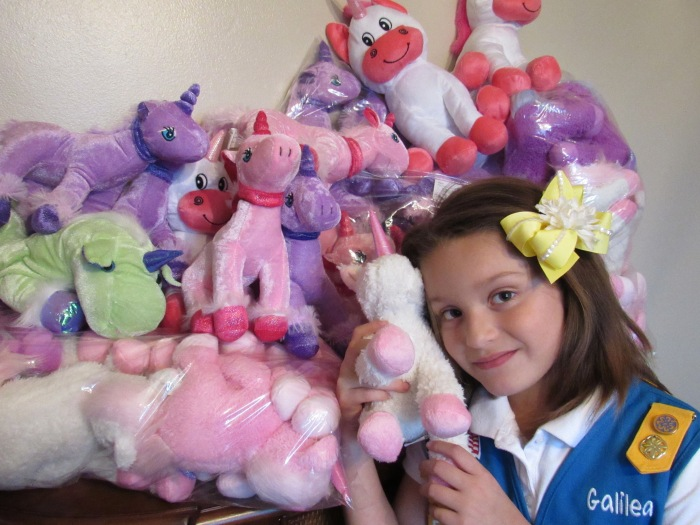 Local Girl Scout Donates Unicorns to Kids with Cancer
