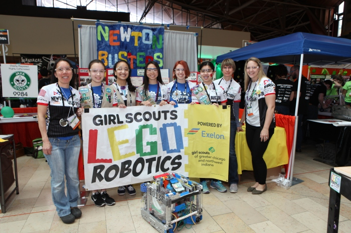 Girl Scout Team Places at World LEGO RoboticsChampionship